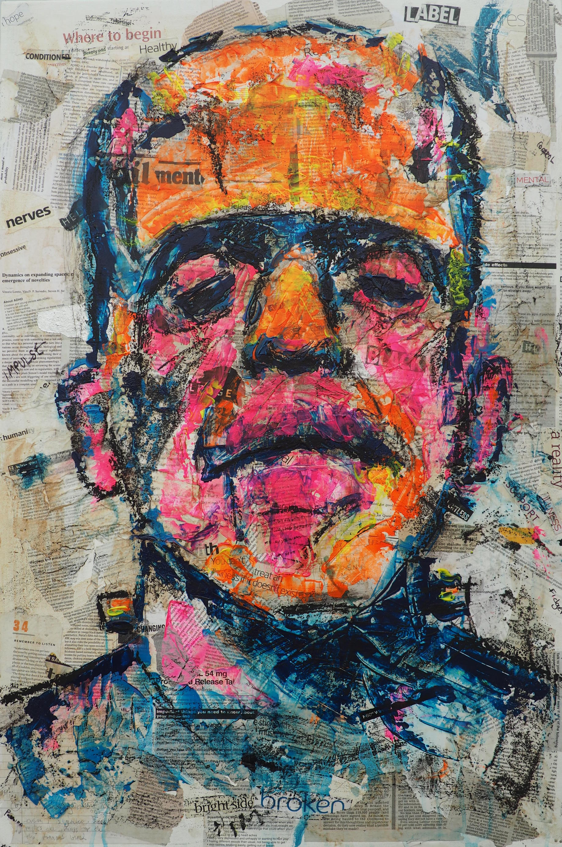 David by Alex Loveless - Acrylic and Mixed Media on Canvas - 60cm x 90cm