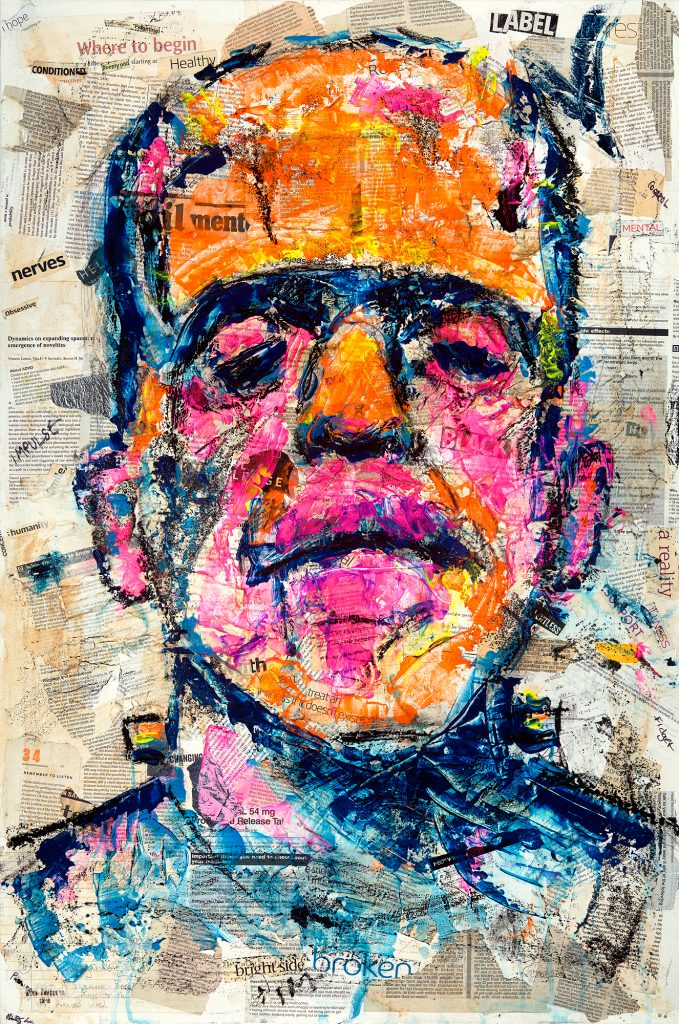David by Alex Loveless - Acrylic and Mixed Media on Canvas